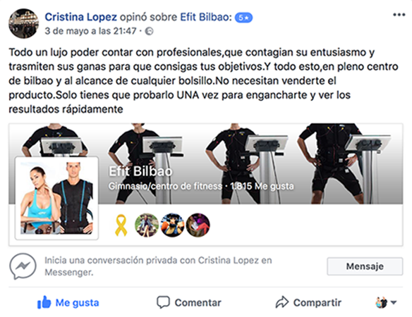 Opinion-cliente-efit-brooklyn-bilbao